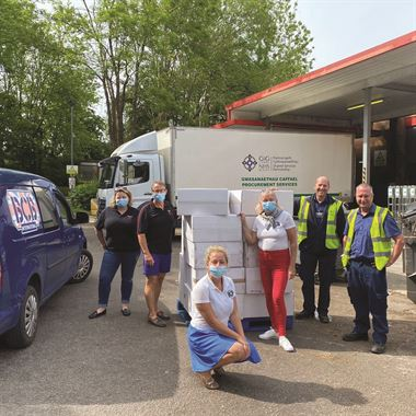 NHS Donations of PPE Drop off