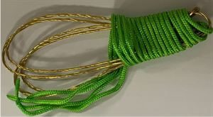 PAIR OF BRASS SNARES cw EYELET 6 STRAND IN RETAIL PACKAGING