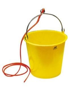 10L Plastic Bucket with Rope Lanyard