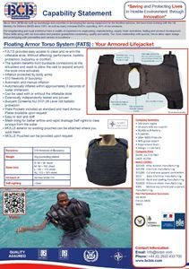 Floating Body Armour Data Sheet